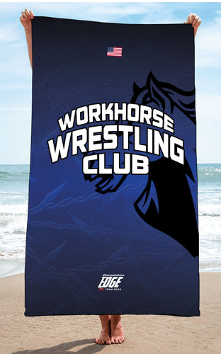 Workhorse Wrestling Club Sublimated Beach Towel - 5KounT2018