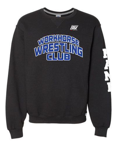 Workhorse Wrestling Club Russell Athletic Cotton Crewneck Sweatshirt - Black - 5KounT2018