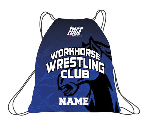 Workhorse Wrestling Club Sublimated Drawstring Bag - 5KounT2018