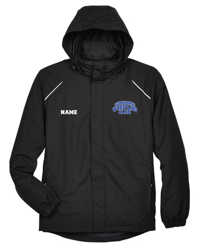 Workhorse Wrestling Club All Season Hooded Men's Jacket - Black - 5KounT2018