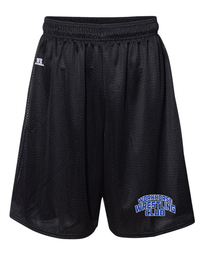Workhorse Wrestling Club Russell Athletic Tech Shorts - Black - 5KounT2018