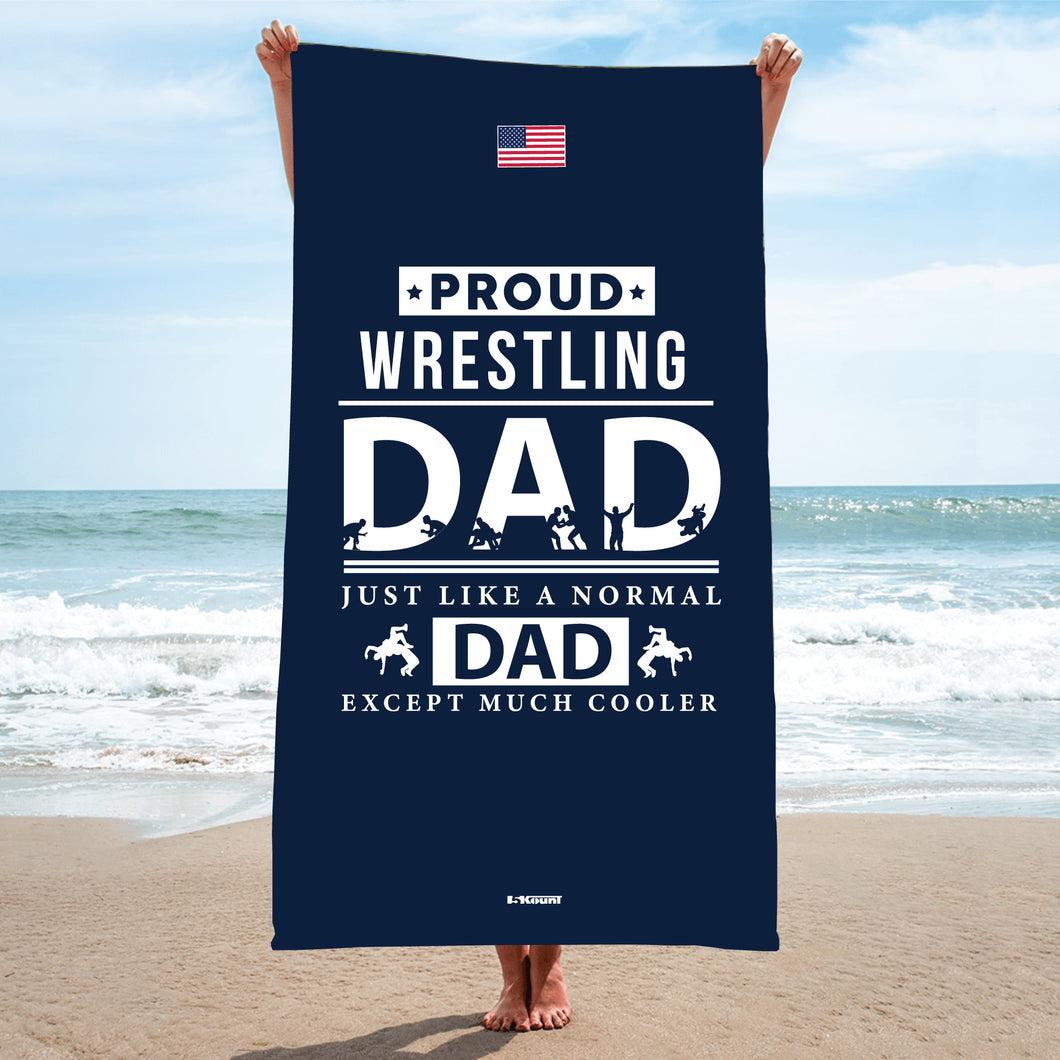 Wrestling Dad Sublimated Beach Towel - 5KounT2018