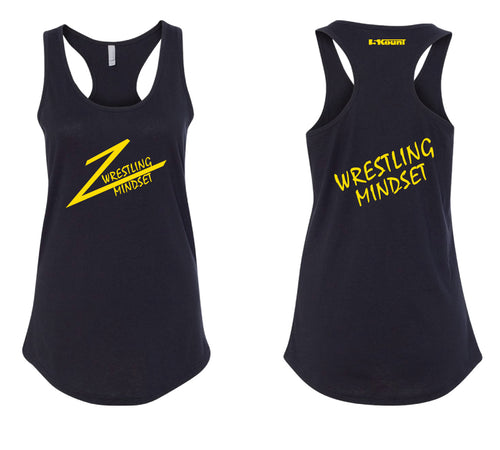 Wrestling Mindset Ladies Tank Top - Black