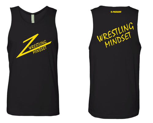 Wrestling Mindset Mens Tank - Black