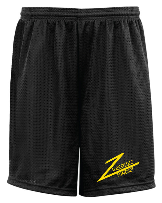 Wrestling Mindset Tech Shorts - Black