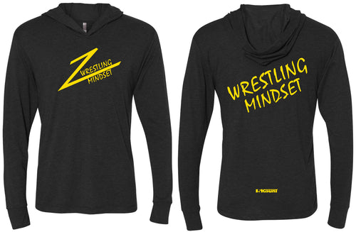 Wrestling Mindset Triblend Hooded Tee - Black