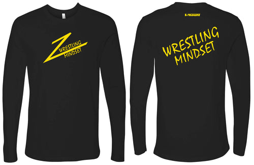 Wrestling Mindset Cotton Long Sleeve - Black