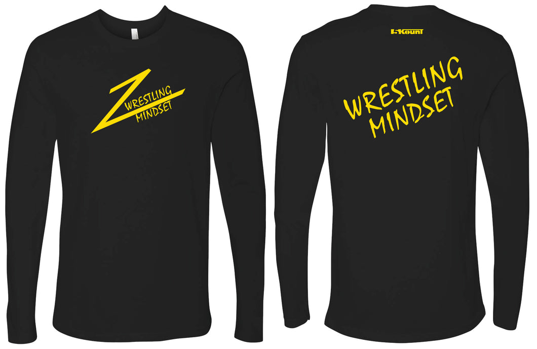 Wrestling Mindset Cotton Long Sleeve - Black - 5KounT2018