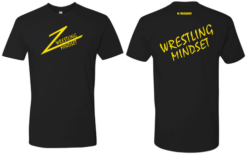 Wrestling Mindset Cotton Crew Tee - Black
