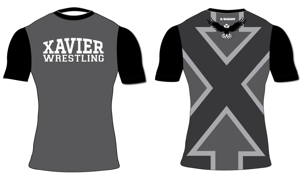 Xavier HS Sublimated Compression Shirt - 5KounT2018