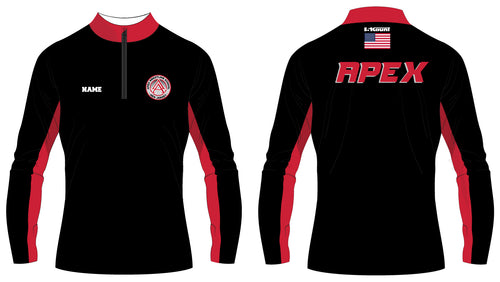 APEX Wrestling Sublimated Quarter Zip Black and Red