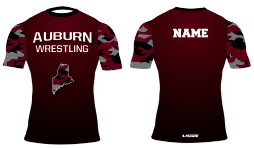 Auburn Wrestling Sublimated Compression Shirt