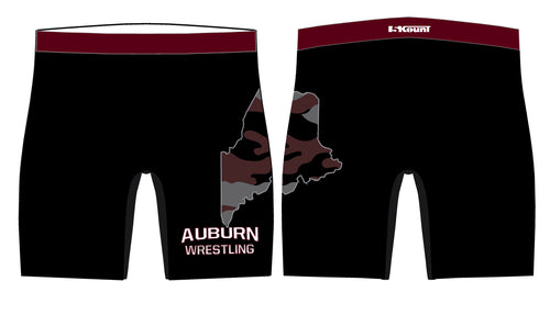 Auburn Wrestling Sublimated Compression Shorts