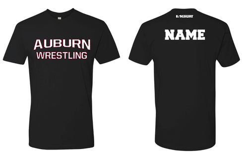 Auburn Wrestling Cotton Crew Tee - Black