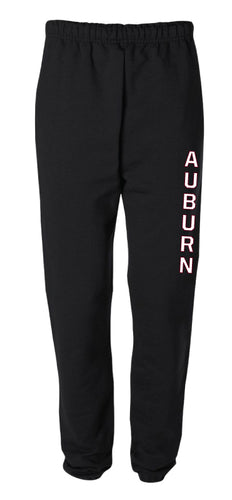 Auburn Wrestling Cotton Sweatpants - Black