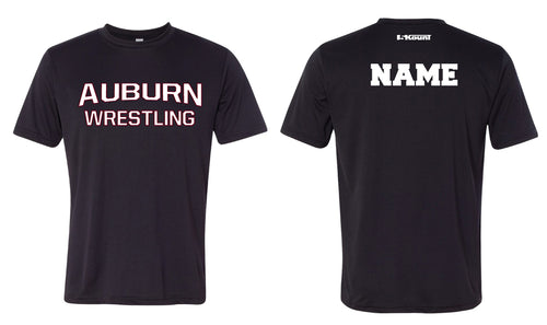 Auburn Wrestling DryFit Performance Tee - Black/White