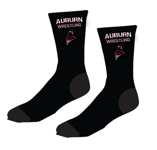Auburn Wrestling Sublimated Socks