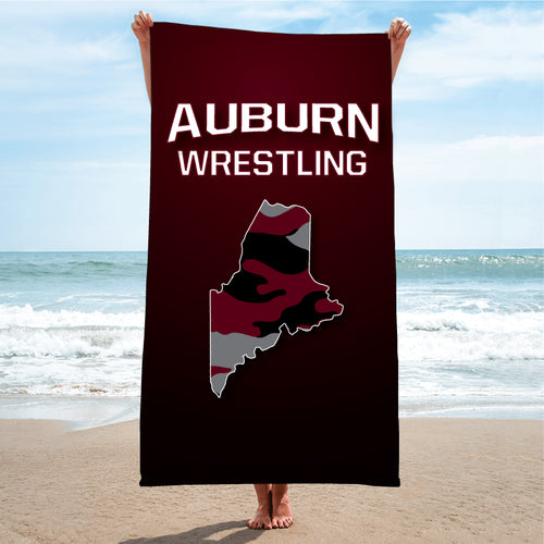 Auburn Wrestling Sublimated Beach Towel