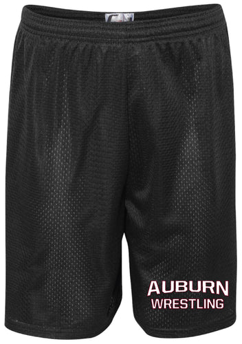 Auburn Wrestling Tech Shorts - Black
