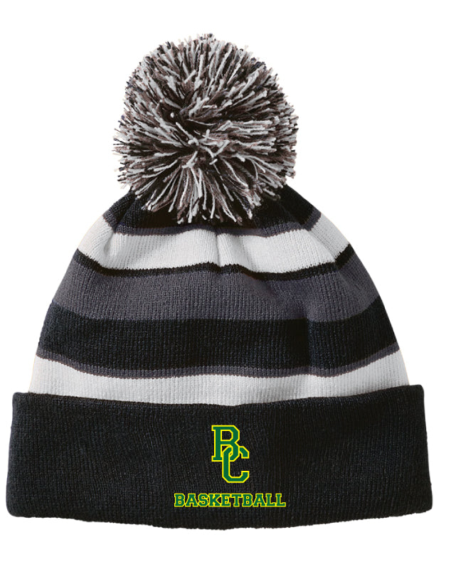Bessemer City Basketball Pom Beanie - Black/Grey