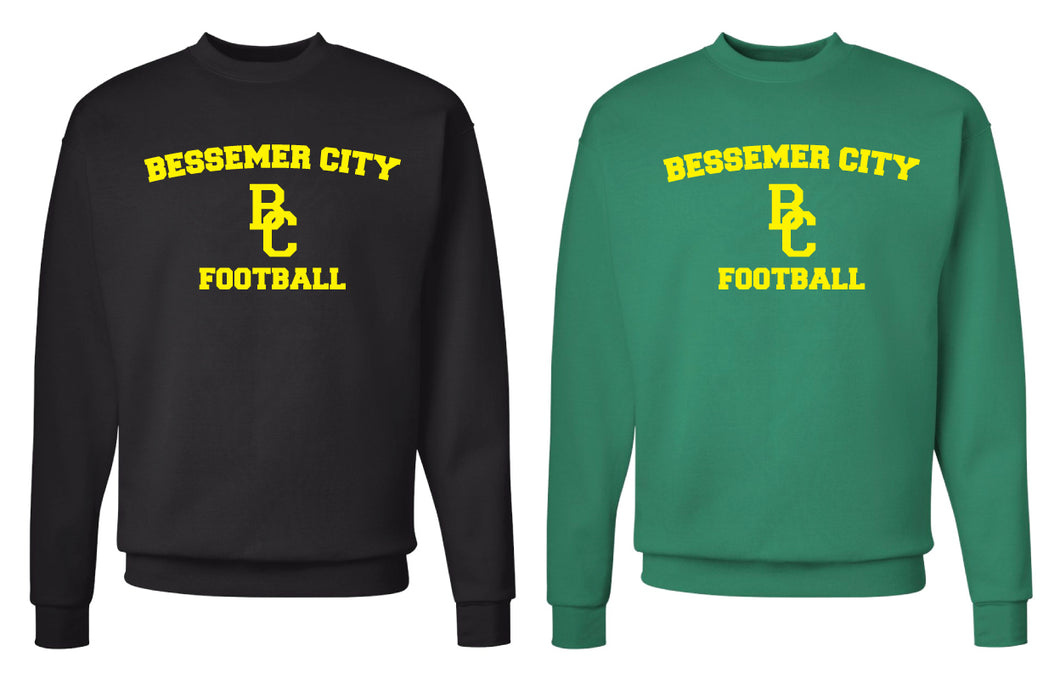 Bessemer City Football Crewneck Sweatshirt - Black or Green