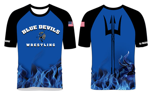 Blue Devils Wrestling Sublimated Fight Shirt