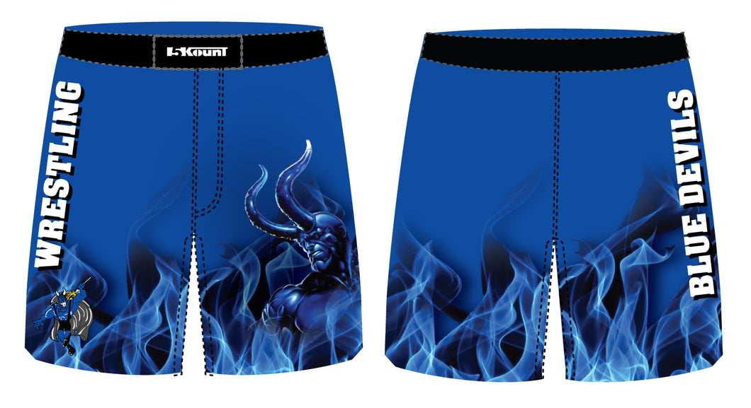 Blue Devils Wrestling Sublimated Fight Shorts