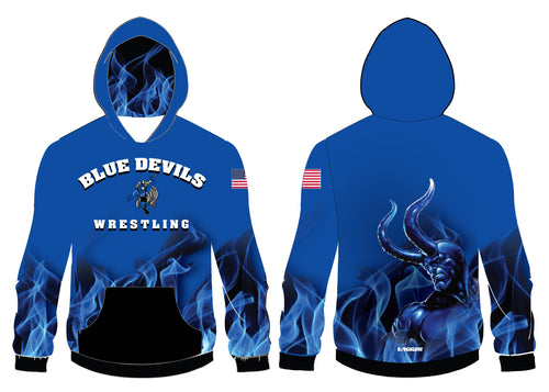 Blue Devils Wrestling Sublimated Hoodie
