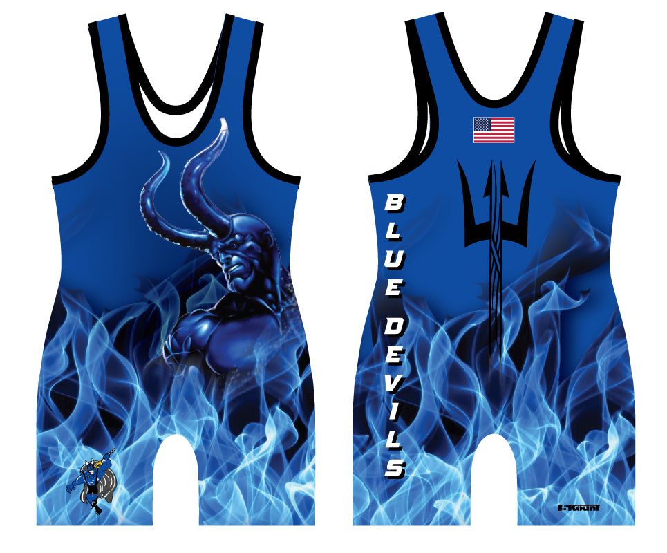 Blue Devils Wrestling Sublimated Singlet - 5KounT