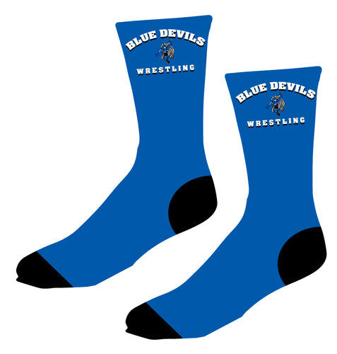 Blue Devils Wrestling Sublimated Socks