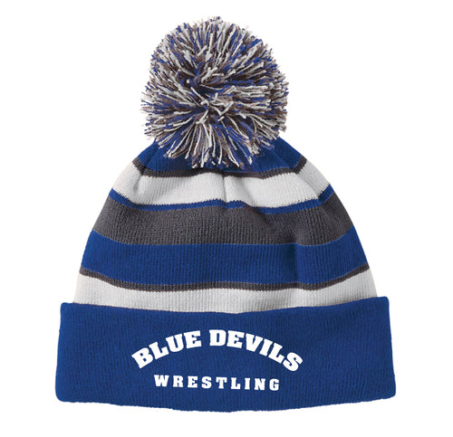 Blue Devils Wrestling Pom Beanie - Royal