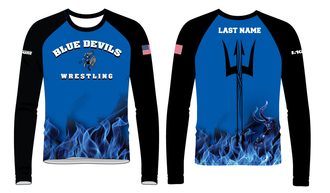 Blue Devils Wrestling Sublimated Long Sleeve - 5KounT2018