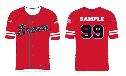 Braves Baseball Sublimated Game Jersey - 5KounT