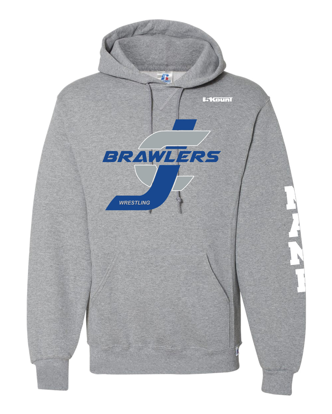 Brawlers Wrestling Russell Athletic Cotton Hoodie - Gray - 5KounT2018