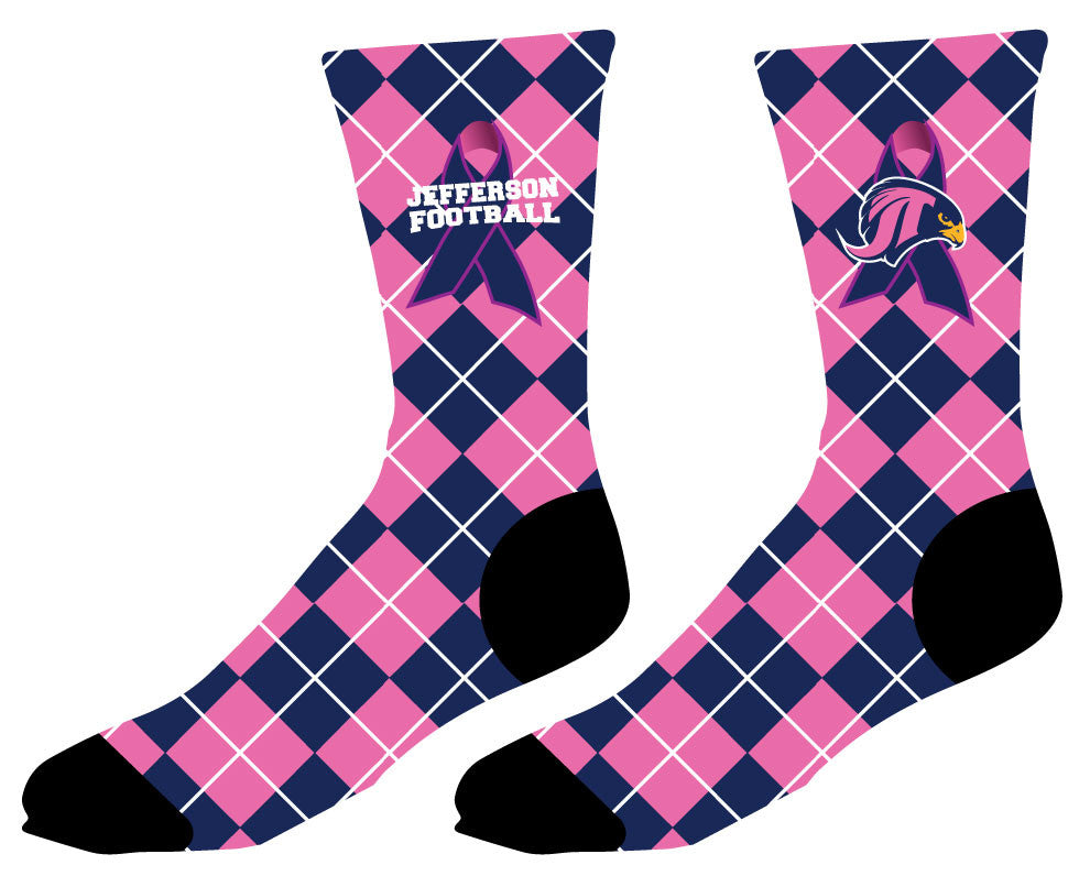 Falcons Football Sublimated Socks - Breast Cancer Awareness