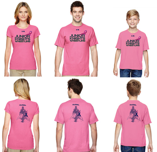 Jr. Knight Wrestling Tshirt - Breast Cancer Awareness