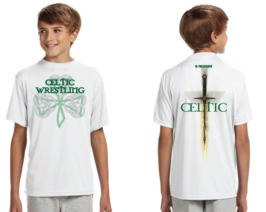 Celtic Sublimated DryFit Performance Tee - White
