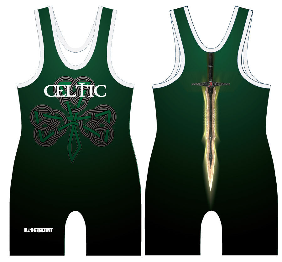 Celtic Sublimated Singlet - Green - 5KounT2018