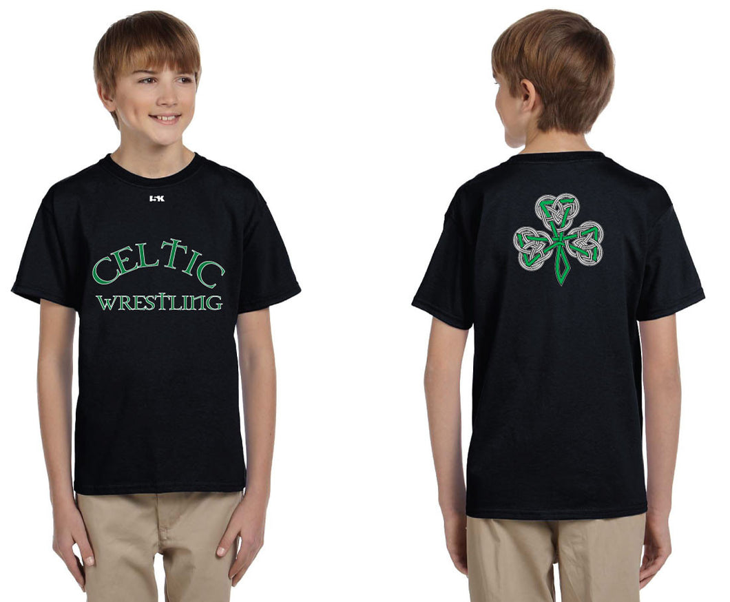 Celtic Cotton Crew Tee - Black