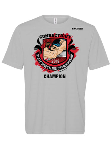 Connecticut Wrestling DryFit Performance Tee Champion - Silver
