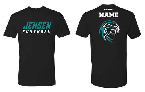 Jensen Beach Falcons Football Cotton Crew Tee Black/Gray