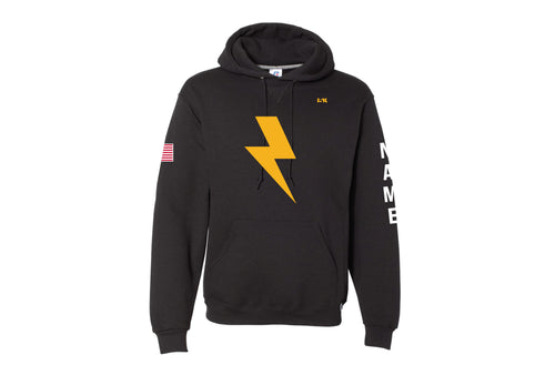 Lightning Lax Russell Athletic Cotton Hoodie Design 1 - Black - 5KounT2018
