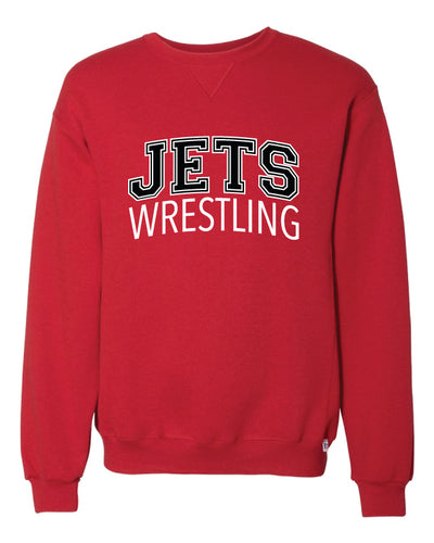 NC Jets Wrestling Russell Athletic Cotton Crewneck - Red - 5KounT2018