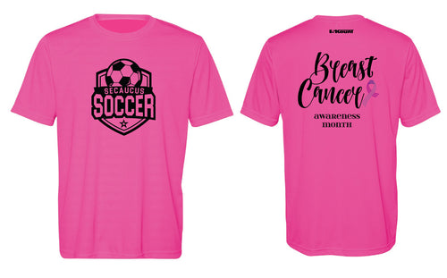 Secaucus Soccer DryFit Performance Tee Cancer Awarness Month -  Sport Charity Pink - 5KounT2018