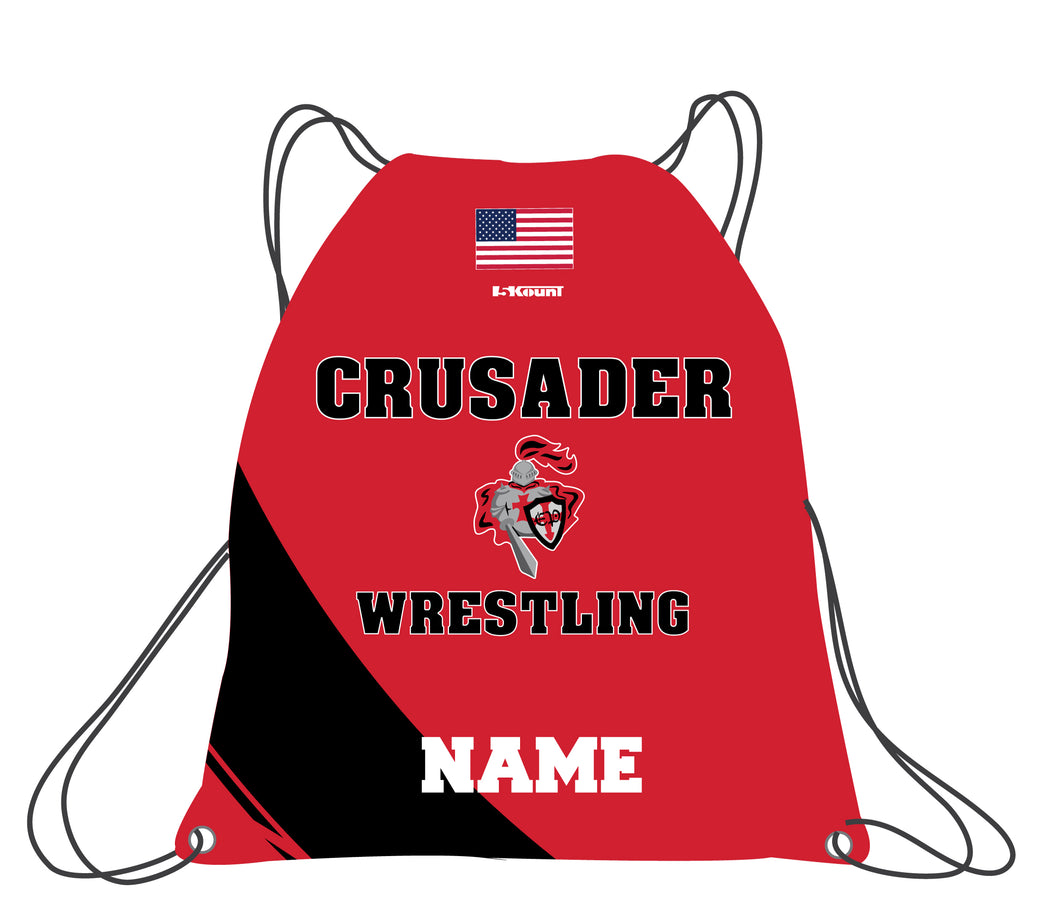 Elmwood Park Wrestling Sublimated Drawstring Bag - 5KounT2018
