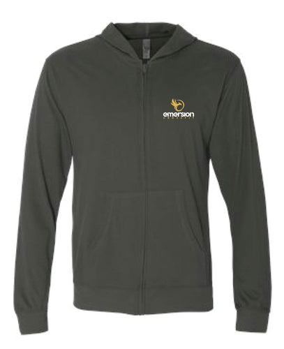 Emersion Crossfit Next Level Unisex Zip Hoodie - Dark Heather Gray - 5KounT2018