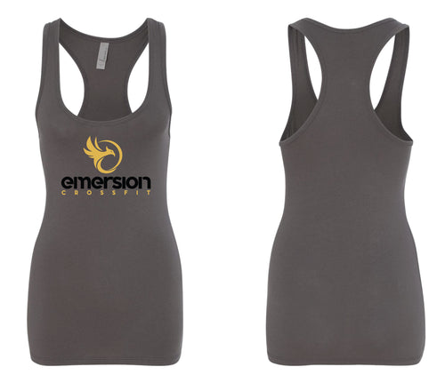 Emersion Crossfit Ladies Workout Tanktop - Dark Grey - 5KounT2018