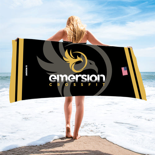 Emersion Crossfit Sublimated Beach Towel - 5KounT2018