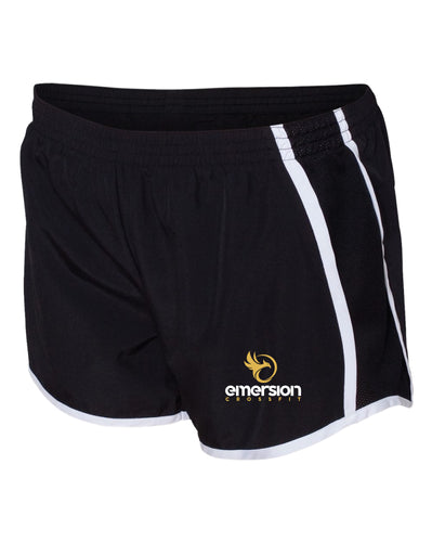 Emersion Crossfit Ladies' Running Shorts - Black - 5KounT2018