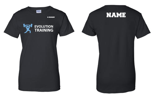 Evolution Cotton Women's Crew Tee - Black - 5KounT2018